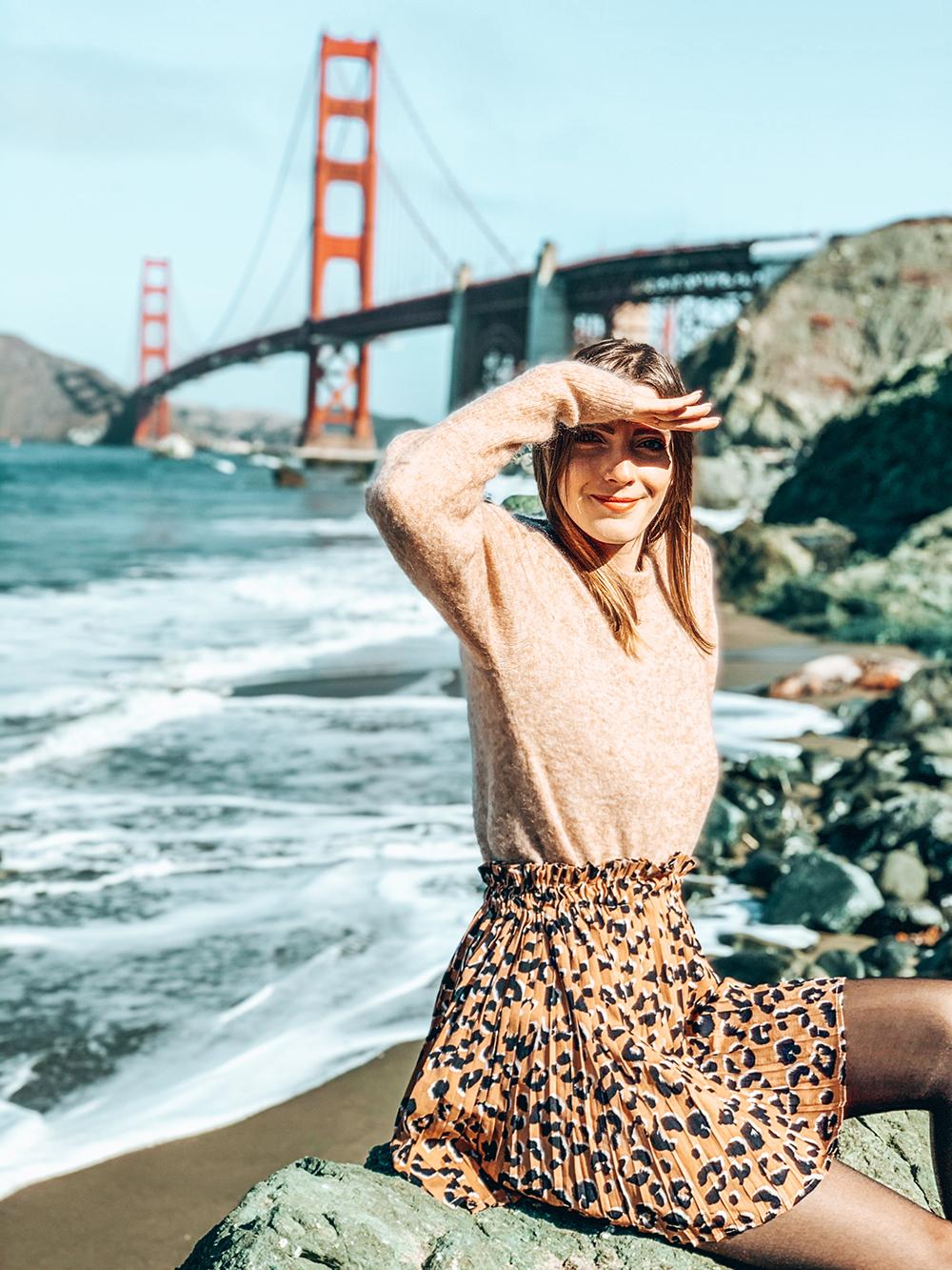 Marshall's Beach vue sur le Golden Gate Bridge