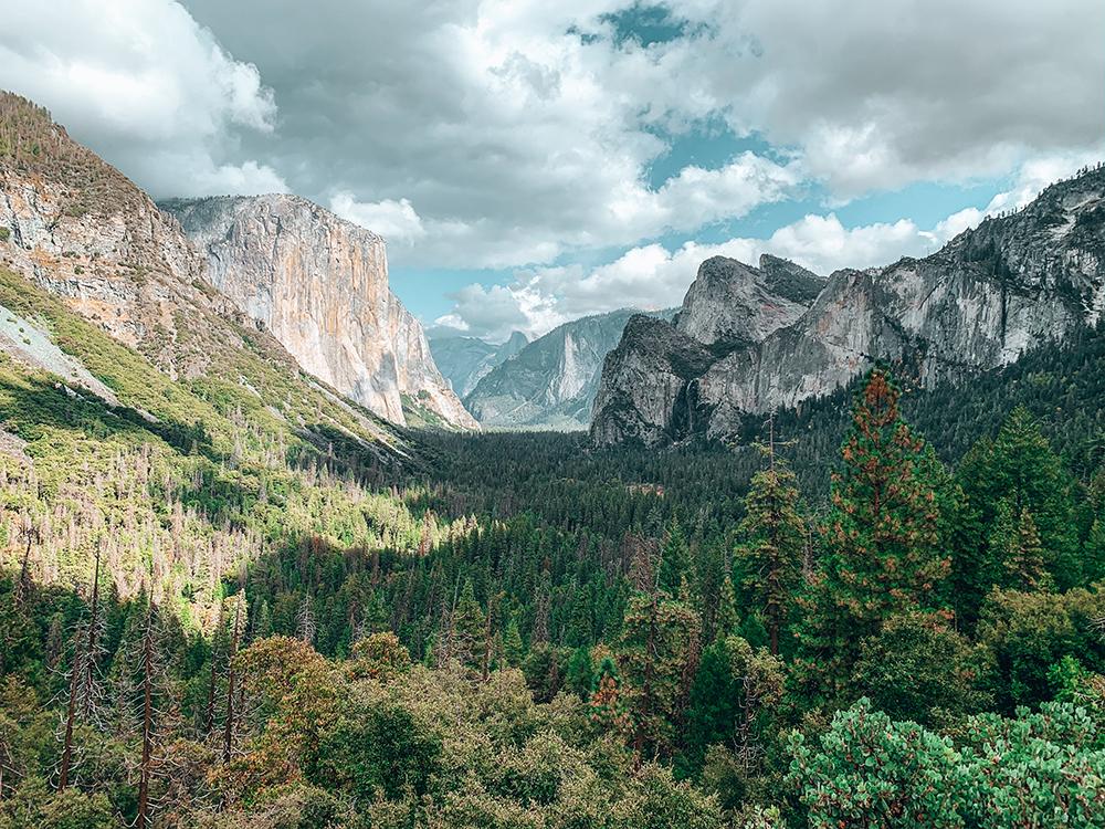 Vue panoramique de Yosemite depuis Tunnel View
